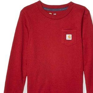Carhartt long sleeve red boy's shirt